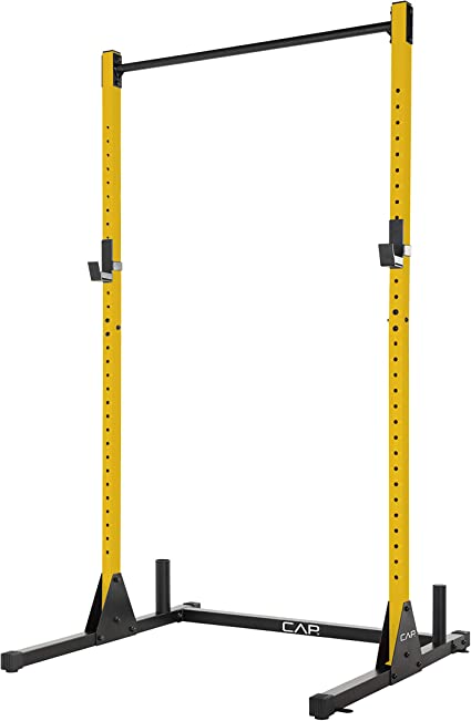 Amazon.com : CAP Barbell Power Rack Exercise Stand, Yellow : Sports & Outdoors