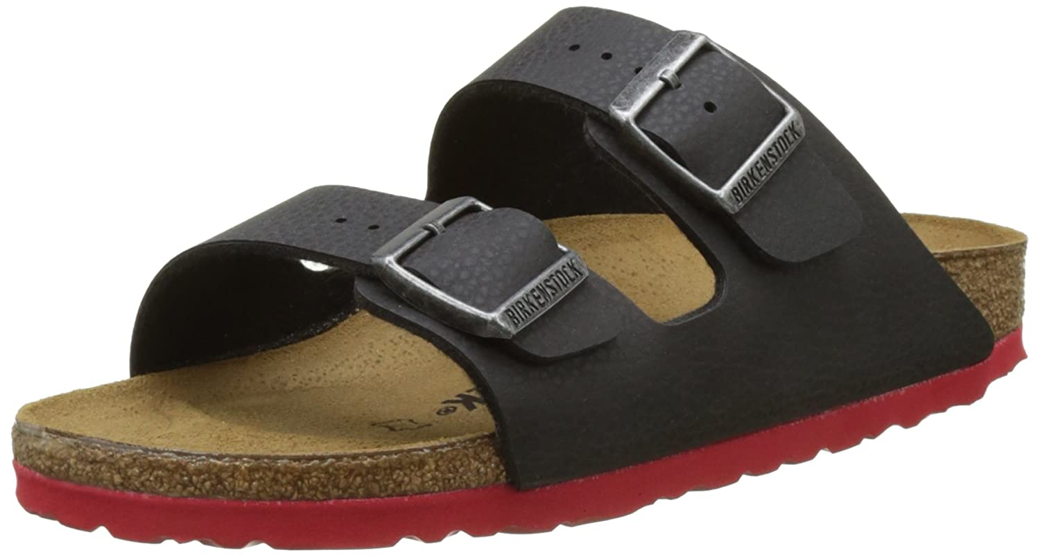 Birkenstock Arizona, Bout Abierto Unisex Adulto 38 EU|Negro (Desert Soil Black/ Ls Red)