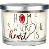 """Aromascape PT41417 """"Home is Where the Heart Is"""" 3-Wick Scented Candle (Brown Sugar Pecan, Cinnamon Bark, and Nutmeg), 11-Ounc"""
