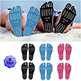 WLBON Beach Foot Pads Barefoot Adhesive Invisible Shoes Stick on Foot Pad Stickers Stick on Soles Anti-Slip Waterproof Silico