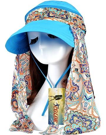 ICOLOR Sun Caps Flap Hats UV 360° Solar Protection UPF 50+ Sun Cap Shade 51b20ea96ff2