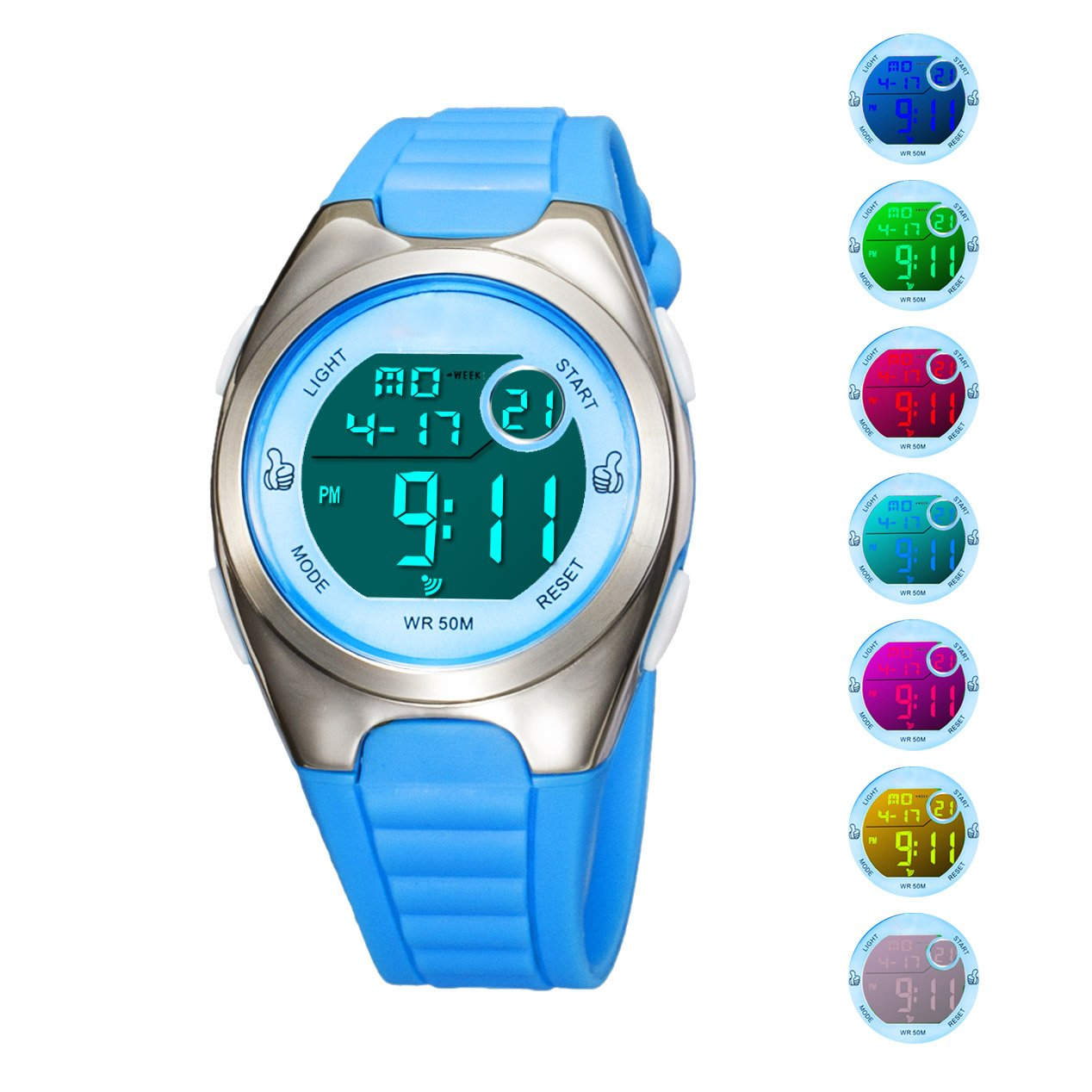 Kids Digital Sport Watch Outdoor Waterproof Watch with Alarm for Child Boy Girls Gift LED Kids Watch by Misskt