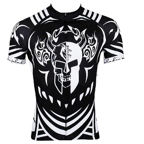 Paladin Cycling Jersey for Men Short Sleeve Skull Pattern Black Bike Shirt  Size XXL 1b9a17b90