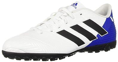 937985ae9 adidas Men's Nemeziz Messi Tango 18.4 Turf Soccer Shoe, White/Black/Football  Blue