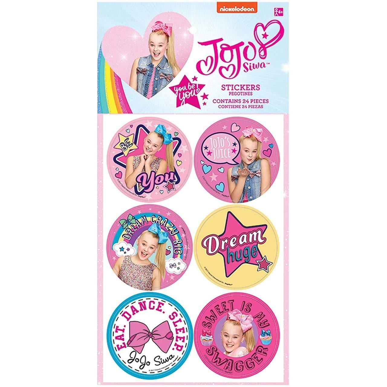 Pack of 2 BirthdayExpress Amscan JoJo Siwa Stickers
