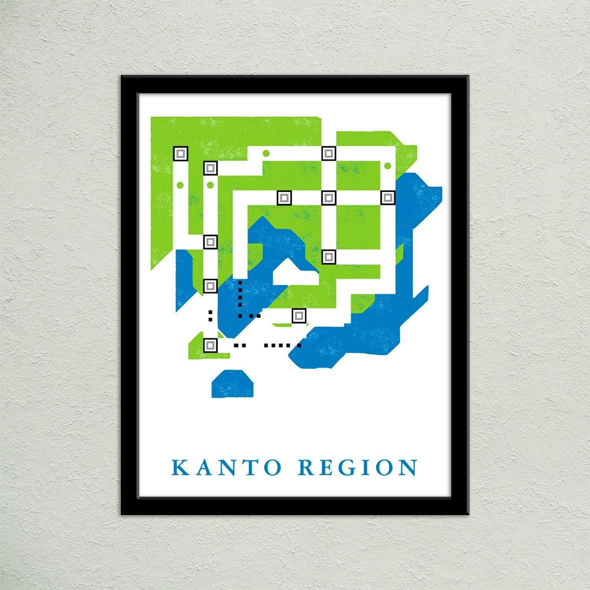 Amazon Com 11 X14 Kanto Region World Map Print Unframed Handmade