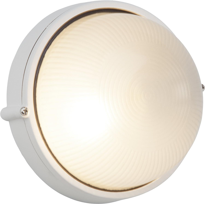 1x E27 max 53 W in metallo e vetro Applique a parete//plafoniera colore bianco Brilliant Silvester 96106//05