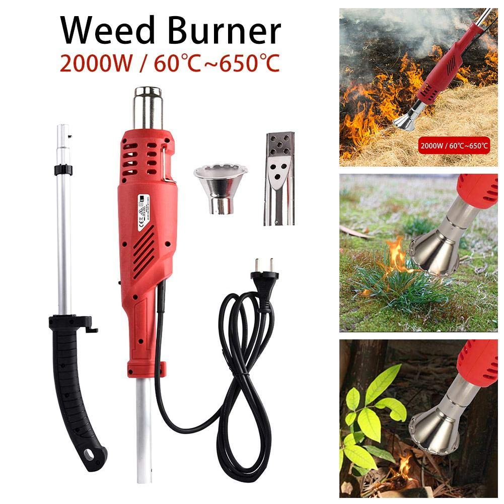 Electric Weed Burner 2000W, Weed Killer, Thermal Weeding Stick, Electric Lawnmower Weeder Power Tool, Up to 650℃, Garden Tools by S WIDEN ELECTRIC