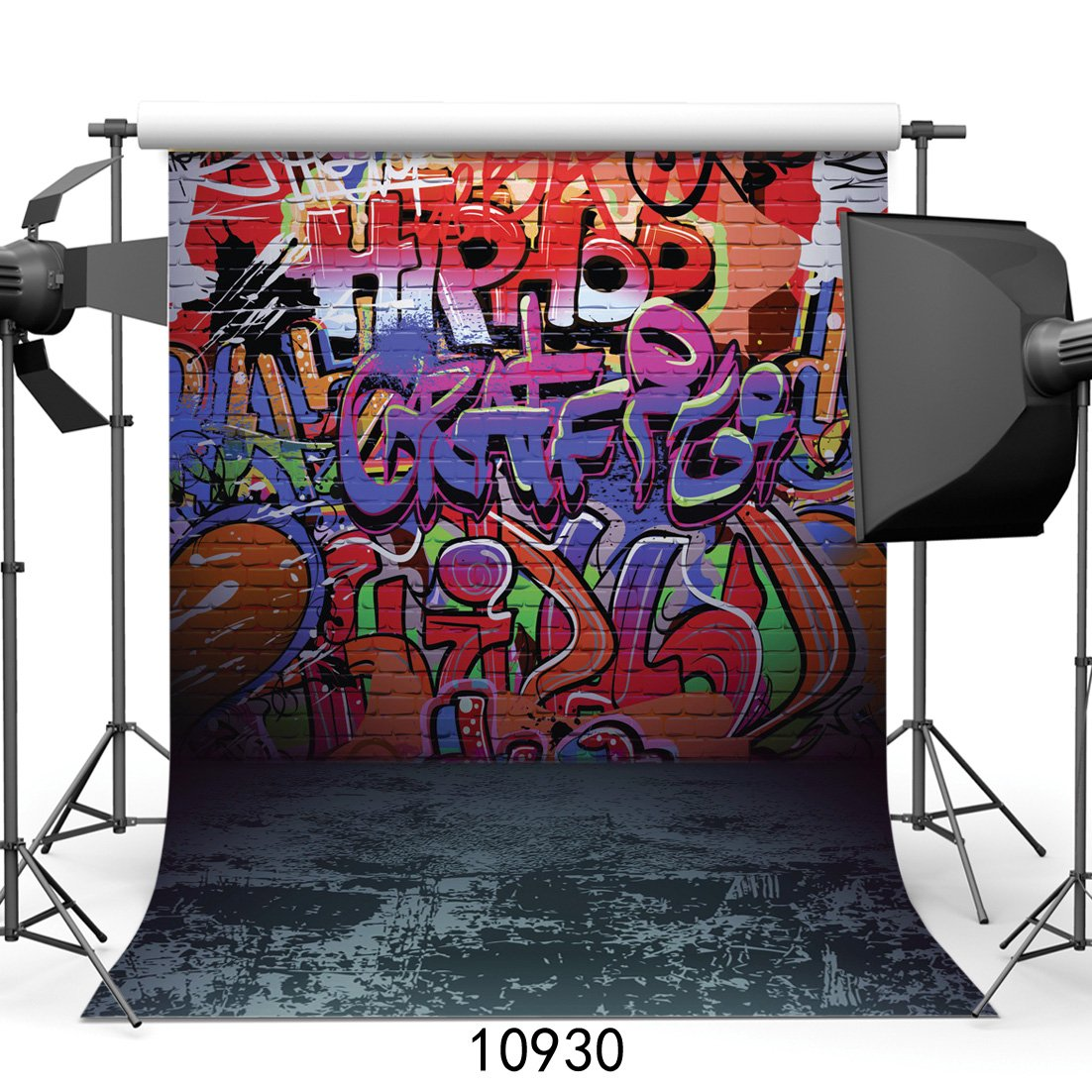 SJOLOON 5x7ft Graffiti Style Vinyl Photography Backdrop Customized Photo Background Studio Prop 10930