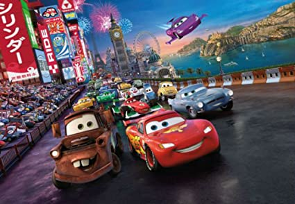 Disney Cars Race Photo Wall Mural 254 X 183cm Amazoncouk Kitchen