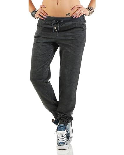 Zarmexx Pantalon Sueur des Femmes à la Mode Bouffante Copain Pantalon  Casual Pantalon de Sport en 4d2de515c43