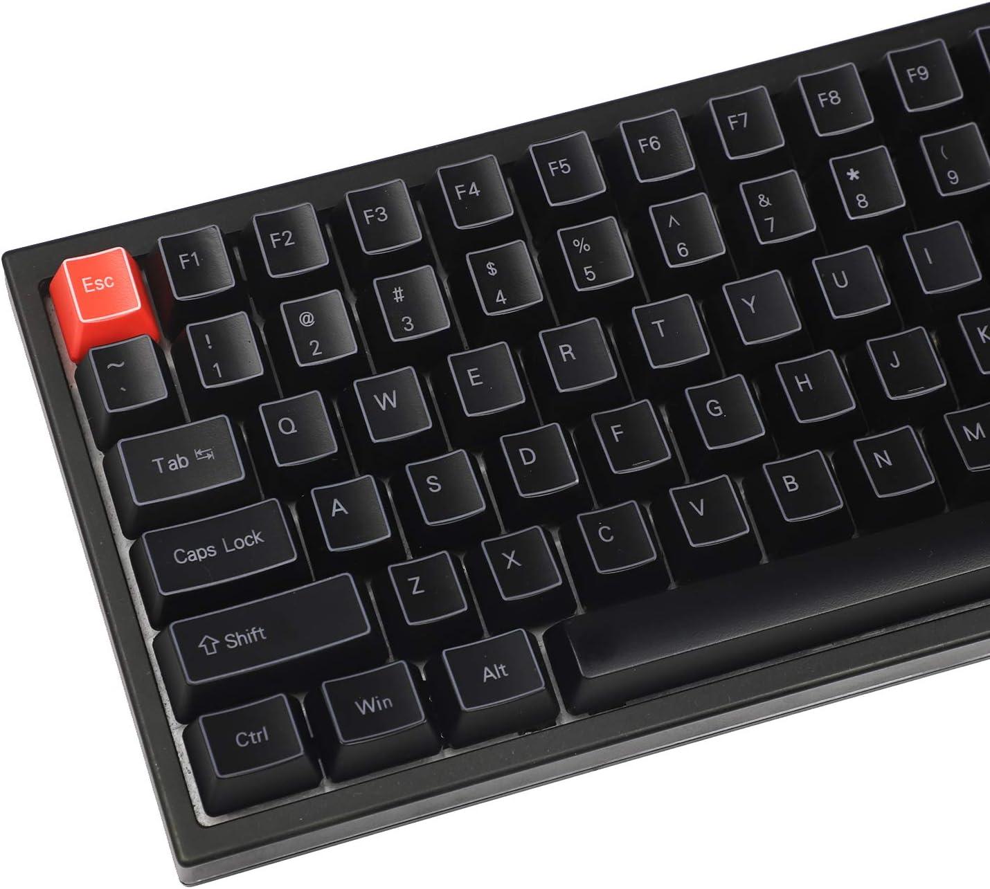 Only Keycap NPKC ABS 84 64 Key OEM ANSI ISO Side-lit 1.5mm Thickness Shine Through Keycap Only Keyset for YMD75 KBD75 Keycool 84 YD64 XD64 GK64