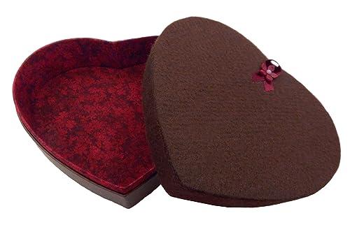 Empty Heart Box For 12 To 16 Art Glass Chocolates Handmade