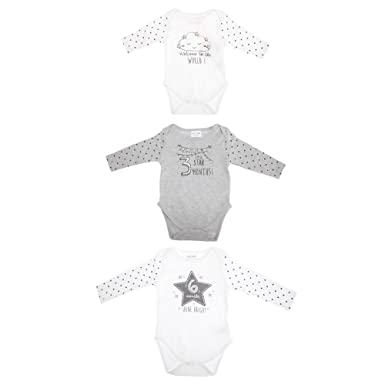 54e3e173216d8 赤ちゃん・ベビー用 長袖 ベビー肌着 パジャマ ボディースーツ ロンパース カバーオール (3枚セット