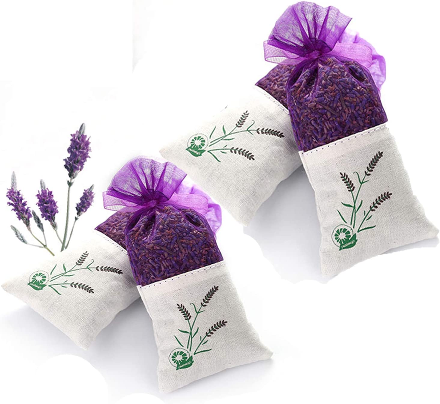 Moth Repellent Prevention for Handknits Wool Yarn Fiber Storage Organic Lavender Cedar Sachets Five Sizes Available