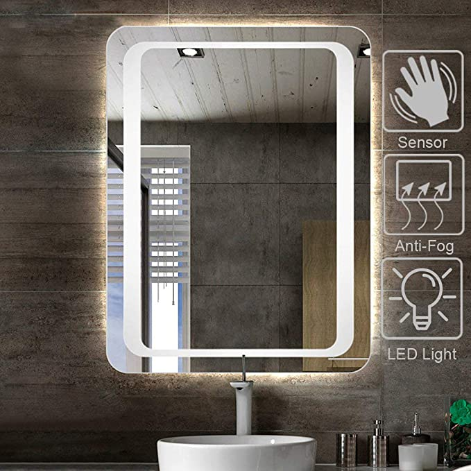 LED Mirror Illuminated Bathroom Light TOUCH SWITCH with DEMISTER-optionalIP44