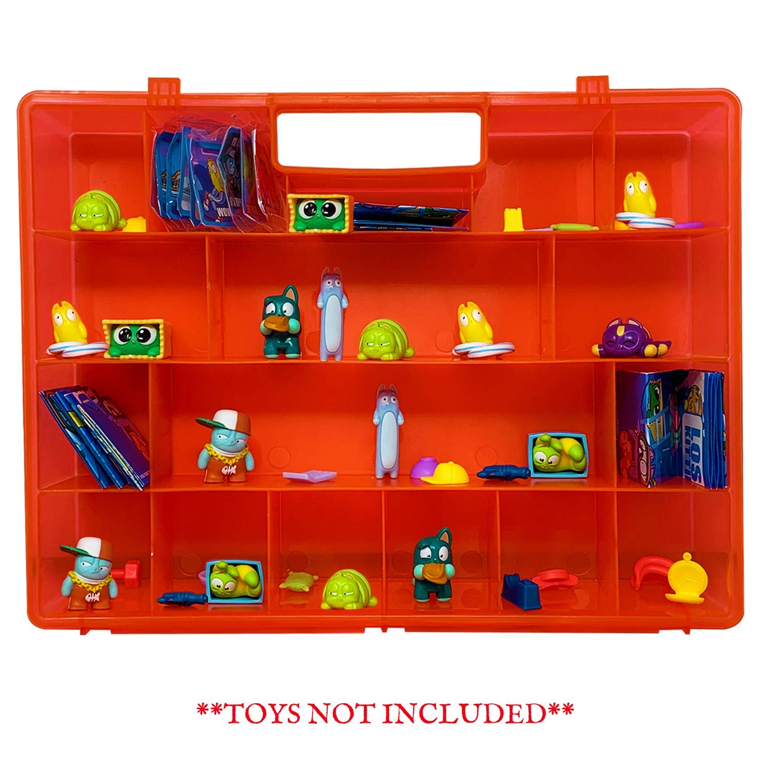 Compatible Carrying Case /& Toy Accessory for Lost Kitties Toys Life Made Better Red Toy Storage Organization Box Not Created by Lost Kitties Made
