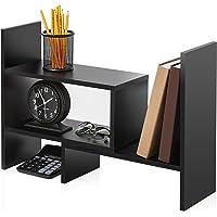 FITUEYES Desktop Organizer Stand/Tabletop Bookshelf Display Rack for Home Office Stationary-Adjustable DT306801WB