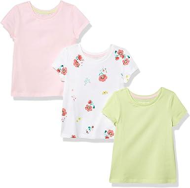 Essentials Girls 3-Pack Short Sleeve T-Shirt