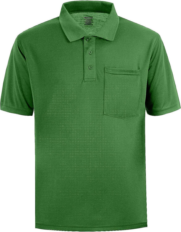 Amazon.com: Men's Short Sleeve Polo Shirt Moisture Wicking ...