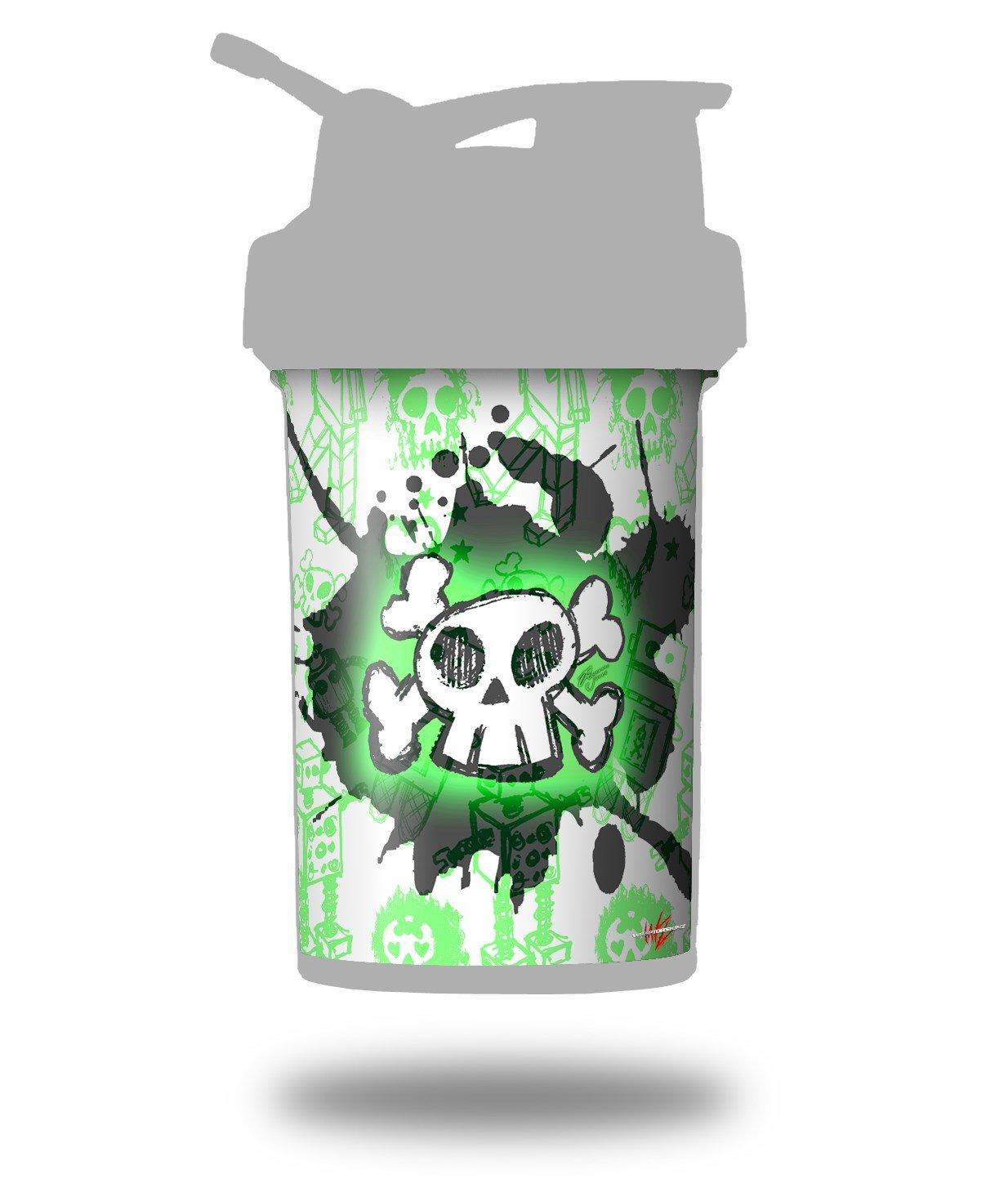 Cartoon Skull verde - para estilo Skin Wrap para licuadora botella ...