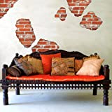 Faux Brick Breakaway Wall Decals Repositionable Peel and Stick