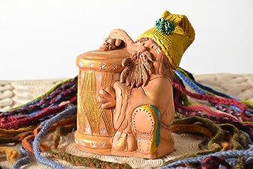 Tirelire en céramique en forme de nain de jardin: Amazon.fr: Cuisine ...