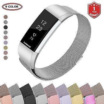Bracelet Fitbit Charge 2, FunBand® Bande en Acier Inoxydable Réglable Milanaise Remplacment Sangle Accessoire