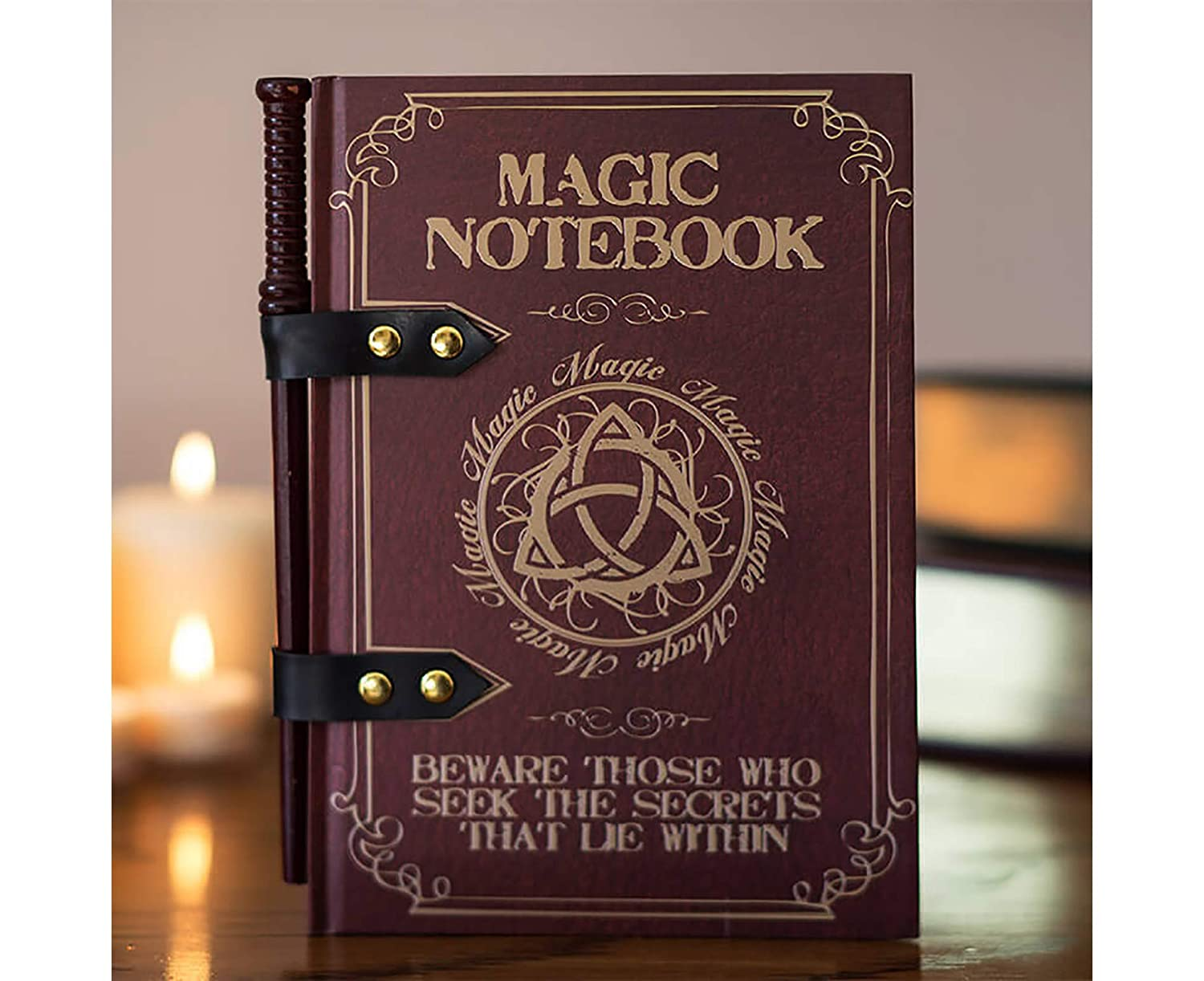 The Source Magic Wand Note Pad A5 Notepad Notebook with Wand Pencil Novelty Gift