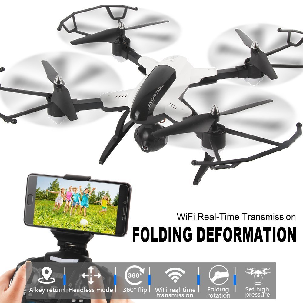 LIDI X33C-1 2,4 GHZ 6 6 6 Achsen Mini WiFi FPV 360 Flip RC Quadcopter, mit 2.0MP HD Kamera Headless RTF Drone bc65ba