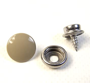"Snap Cap /& Socket Stainless Steel w// 3//8/"" Inch #8 Wood Screw Stud"