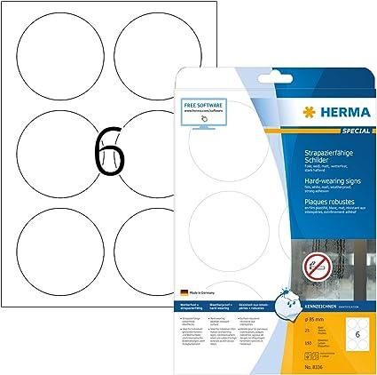 PET-Folie 33 Etiketten A4 Bogen 50 x 25 mm transparent matt selbstklebend