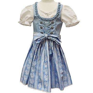 79c60accfef310 Lekra Lekra Dirndl Kinder 3-teilig hellblau (98) Kleider: Amazon.de ...