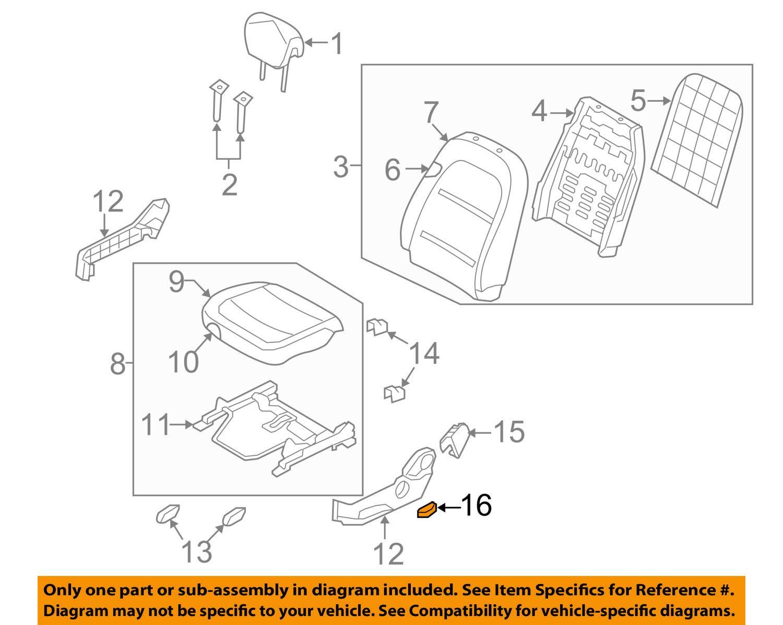 Passenger Side Genuine Hyundai 88295-3L100-WK Power Seat Switch Assembly