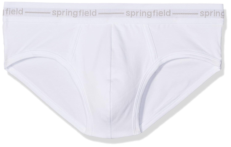 Springfield Slip Punto Basico W, Hombre, Blanco (White), Large (Tamaño del Fabricante:L): Amazon.es: Ropa y accesorios