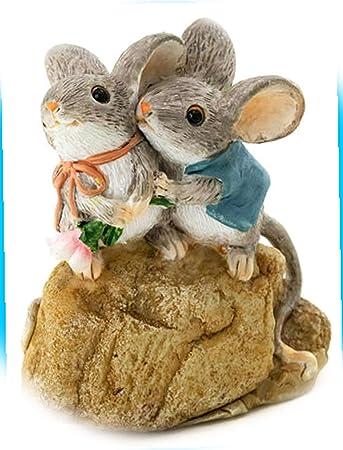 New Forest Friends Mouse Muskrat Tackle Basket 3PC Set Fairy Garden Miniature Garden Dollhouse Magic Scene Supplies Accessories Dia-#0783N