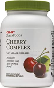 GNC SuperFoods Cherry Complex, 90 Capsules, Powerful Antioxidant