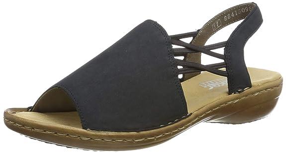 Rieker Damen 608d1-14 Geschlossene Sandalen