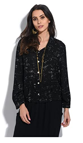Bella blue Camisa Tatiana Negro/Marrón Topo Mujer Colección Primavera/Verano