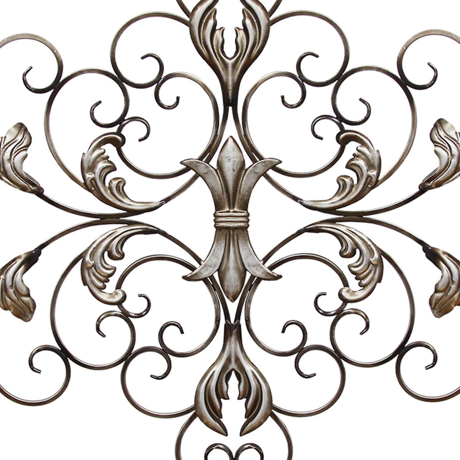Stratton Home Decor Shd0139 Ornate Scroll Wall Decor Champagne 36 00 W X 0 75 D X 21 75 H Wall Sculptures Home Kitchen