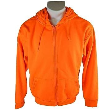 3c54a5f92595b Men's Orange Blaze Full Zip Performance Hunting Hoodie Sweatshirt ...