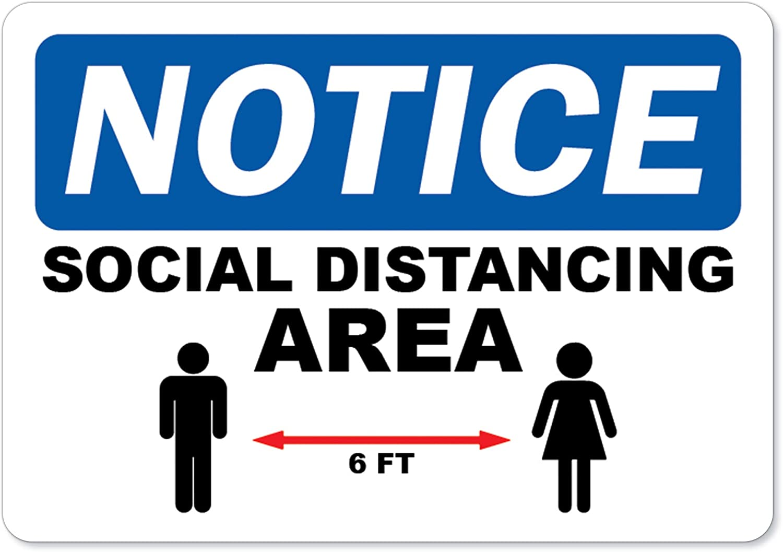 MAINTAIN SOCIAL DISTANCING Advertising Vinyl Banner Flag Sign Sizes USA VIRUS