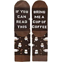 Novelty Funny Saying Crew Socks If You Can Read This Bring Me Beer Wine Coffee Taco Bacon Food Socks for Men Women