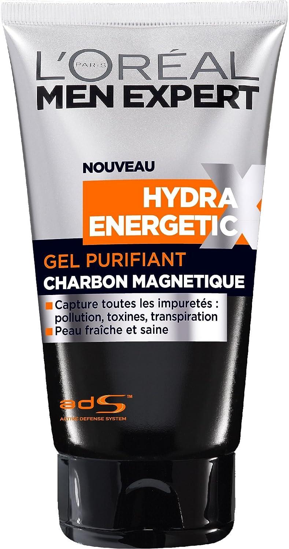 L'Oréal Men Expert Hydra Energetic X Gel Nettoyant Purifiant Homme au Charbon 150ml