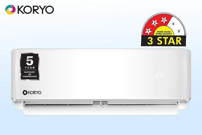 Koryo 1.5 Ton 3 Star Split AC  Copper, MGKSIAO2018A3S M18, White
