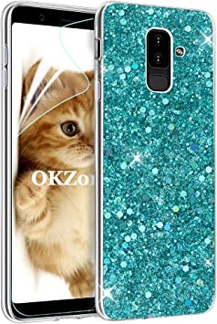 OKZone Funda Samsung Galaxy A6 Plus 2018, Cárcasa Brilla Glitter ...