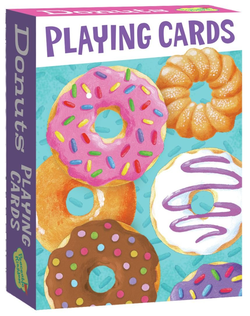 Amazon.com: Peaceable Kingdom Assorted Donuts Playing Card Deck of ...