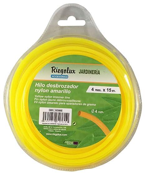 Riegolux 107669 Hilo Desbrozadora Nylon Redonda, Amarillo, 4 ...