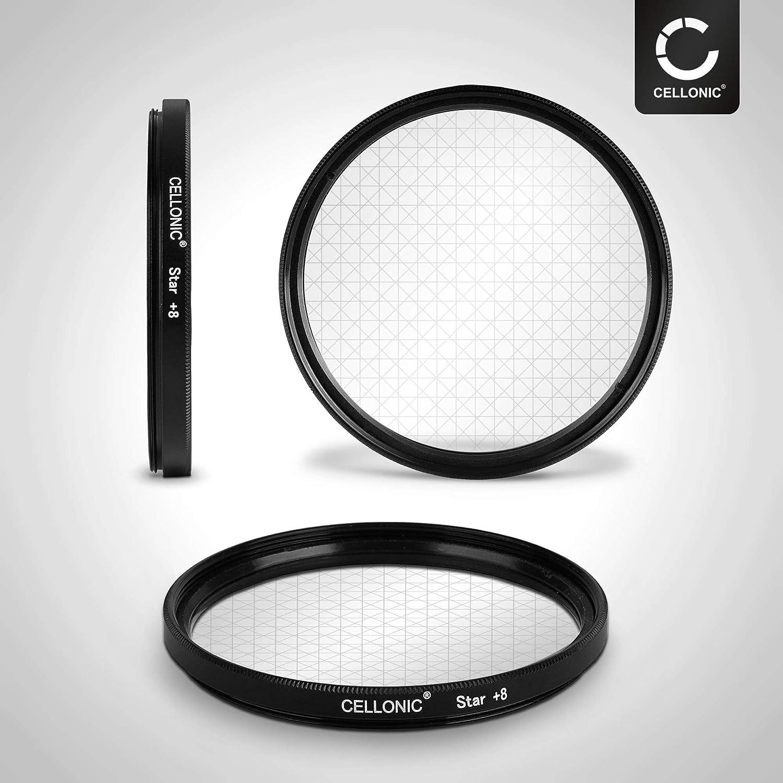 Gitterfilter Kreuzfilter CELLONIC/® Sternfilter 8 Pt kompatibel mit Zeiss Batis//Distagon T//Makro-Planar T /Ø 67mm 8 Point
