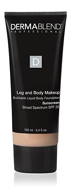 a2355e780 Amazon.com: Dermablend Leg and Body Makeup Foundation with SPF 25, 10N Fair  Ivory, 3.4 Fl. Oz.: Luxury Beauty